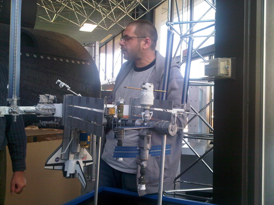 1:100 scale model of International Space Station for NASA ...