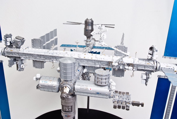 Modified 1:100 scale model of International Space Station ...
